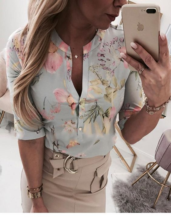 Very nice floral shirt for office