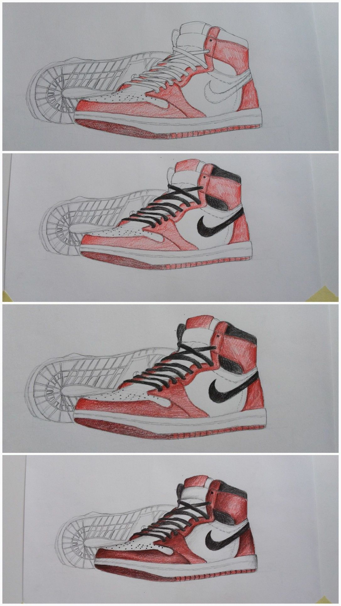 Nike shoes drawing pencil colors》 in 2019