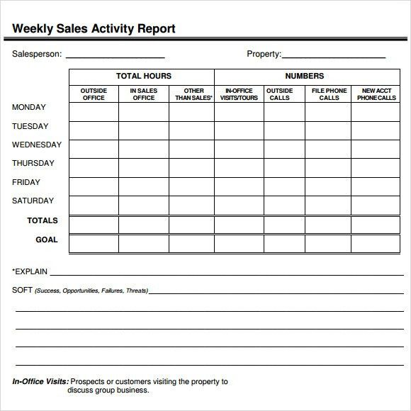 daily sales report sample – Sample Daily Report