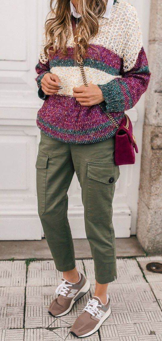green cargo pants #spring #outfits