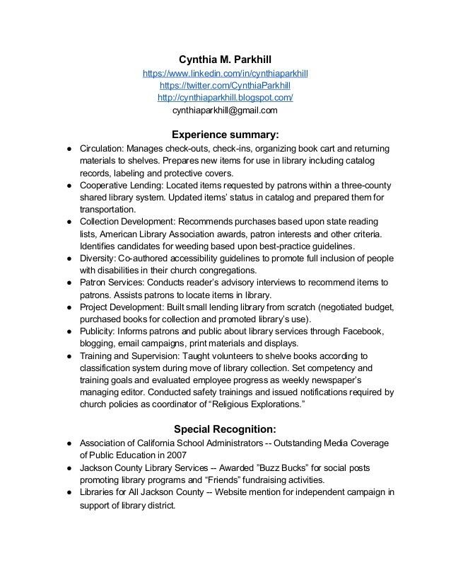 sample school librarian resume resume example best librarian