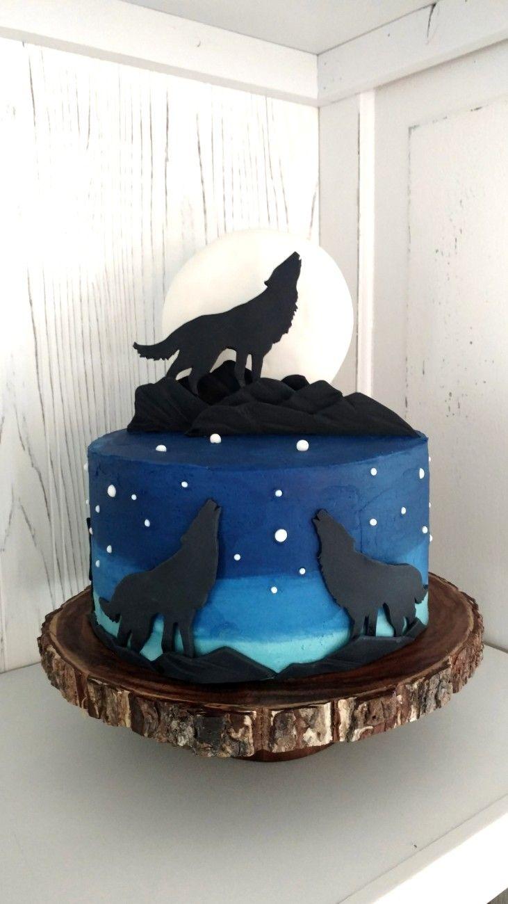 Howling Wolf Cake – Beautiful Birthday Cakes  Howling Wolf Animal Jam Cake