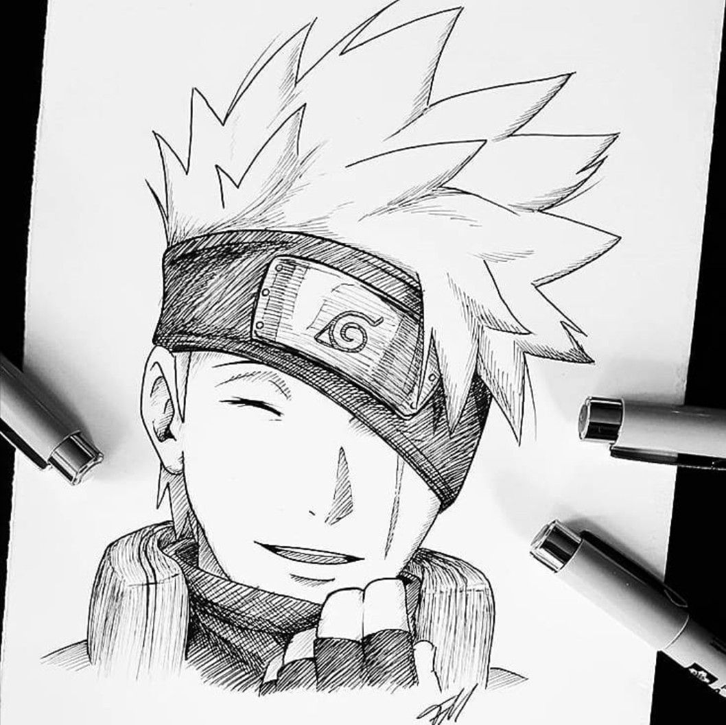 30+ Trends Ideas Drawing Anime Naruto Kakashi