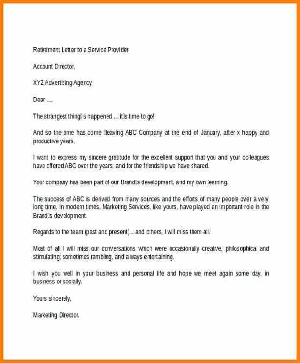 retirement announcement letter to customers