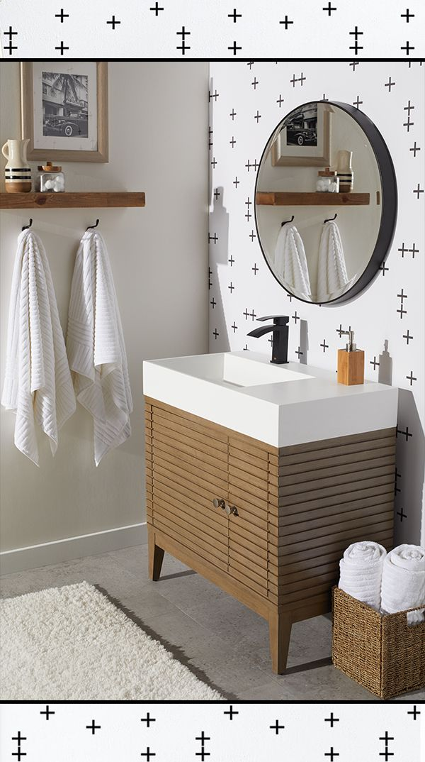 Nothing beats a fresh look in your bathroom, and at Overstock you'll save big on all the washroom essentials you need to revitalize your space. #bathroom #bathroomupdate #bathroomstyle #sink #vanity #towels #bathroomfurniture #bathroomstorage #bathroomsink #bathroomessentials #bathmat #mirrors #bathroommirror #bathroomcabinets #bathroomideas #bathroominspiration #overstock