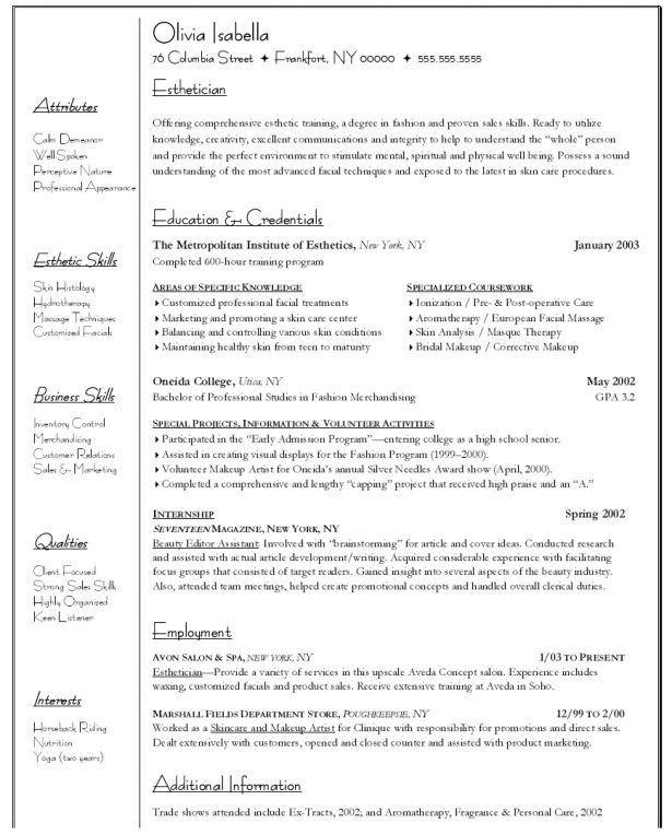 Skin Care Consultant Cover Letter Cvresumeunicloudpl