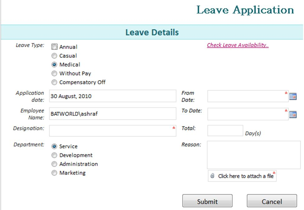 ... Leave Forms Template Sample Medical Leave Form 13 Download Free   Leave  Application Forms ...  Application For Leave Form