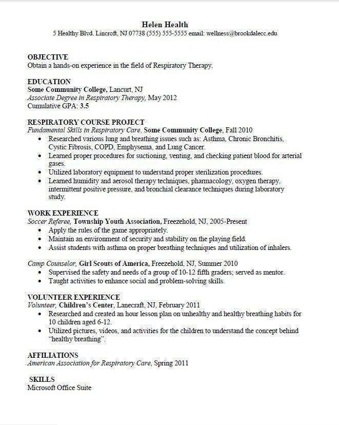 Respiratory Therapy Resume Examples Respiratory Therapist Resume