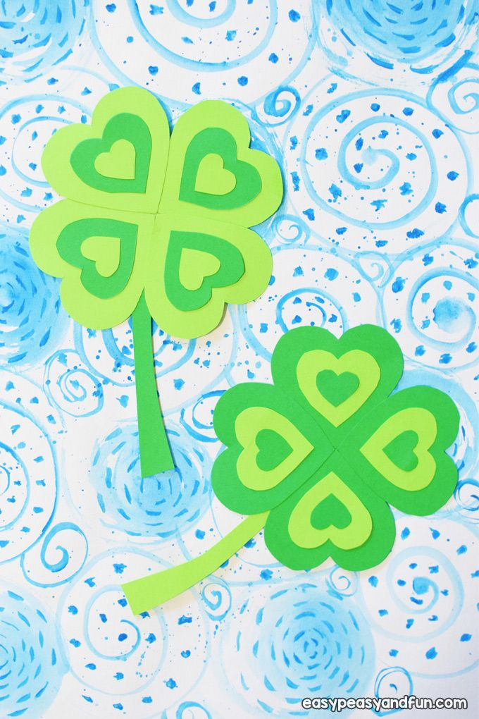 Four Leaf Clover Craft - Easy Peasy and Fun