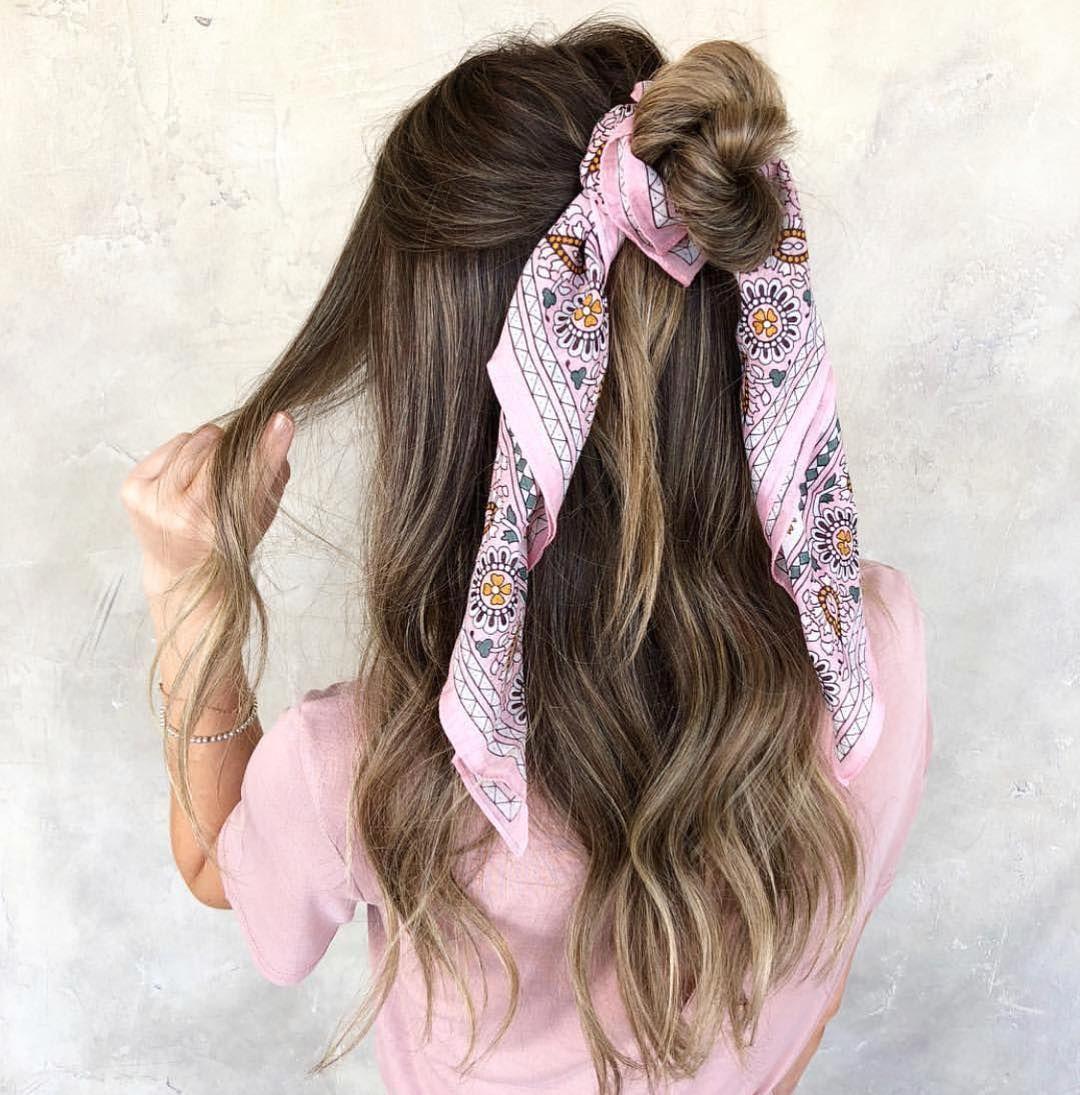 "Habit Salon on Instagram: ""Half-up top knots ❤️ by @kelseycurtis.stylist"""