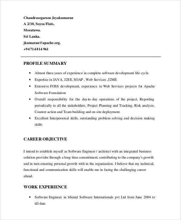 Resume Profile Statement Examples Resume Profile Statement