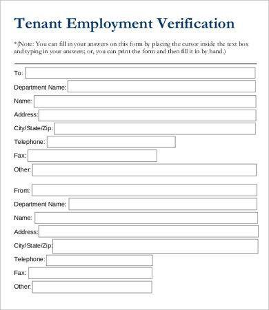 Employment Verification Request Form Template Employment - employment verification form