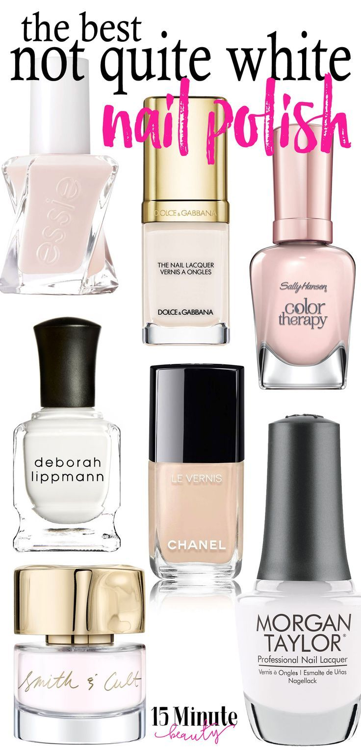 I've been on the look out for the best white nail polish! I want a not quite white nail polish color, and I've found some great options!
