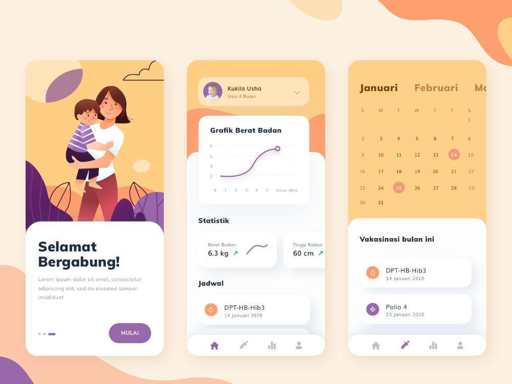 Child Health Monitoring App by Aulia Citra Gunasiwi for Paperpillar on Dribbble