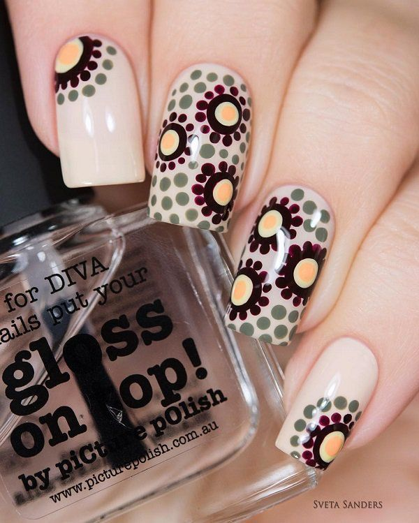 – 30+ Adorable Polka Dots Nail Designs