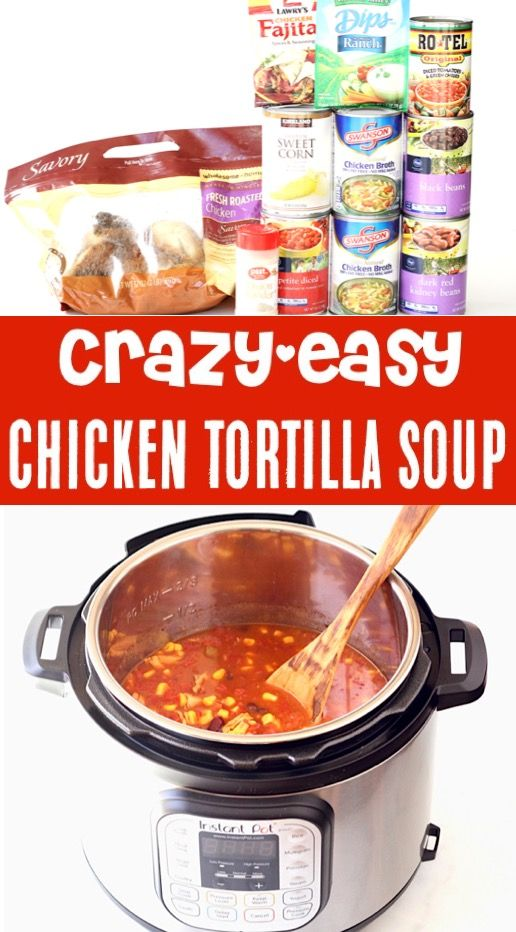 Instant Pot Chicken Soup Recipes! {Easy Healthy Tortilla Soup} This savory dish will infuse big flavors into your dinner this week!  Plus... it's So simple to make!  Go grab the recipe and give it a try!