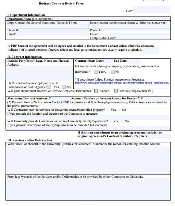 Company Contract Template Business Contract Template 10 Free Word - free business contract templates