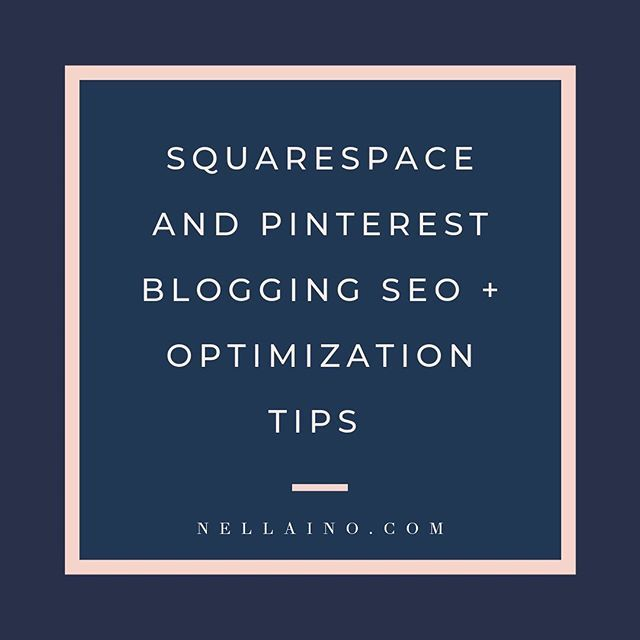 Pinterest SEO + Squarespace from Pinterest Strategist