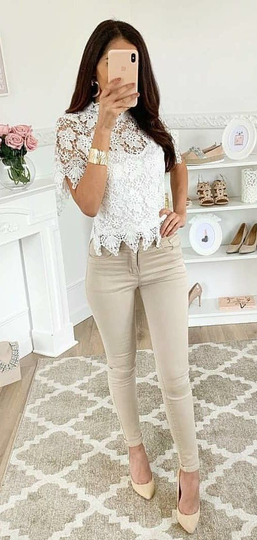 brown pants #spring #outfits