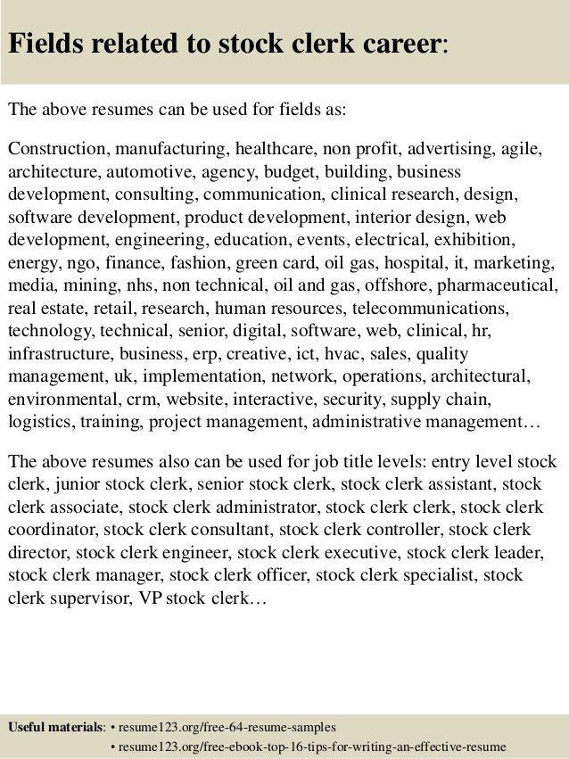 Resume-samples-clerk-resumeshim-clerk - cheapflats - High Quality
