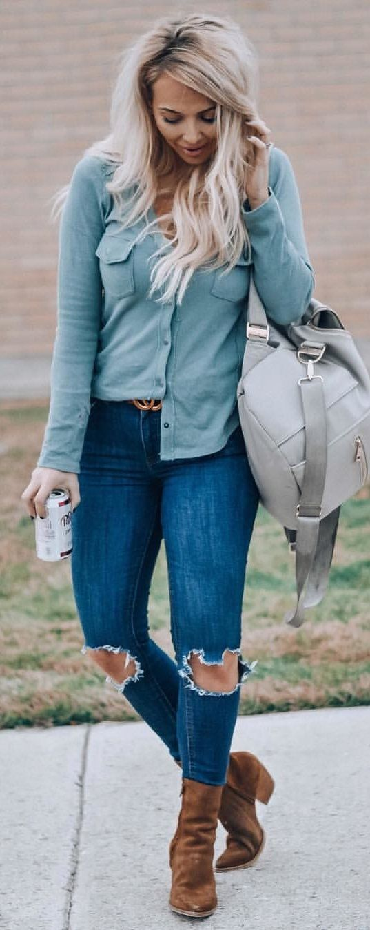 gray button-up jacket