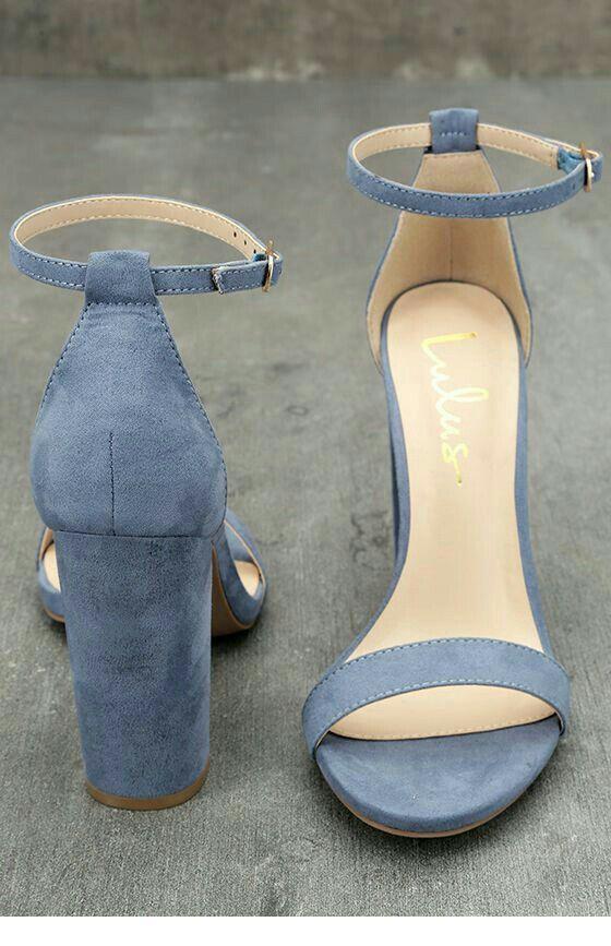 Nice blue velvet sandals