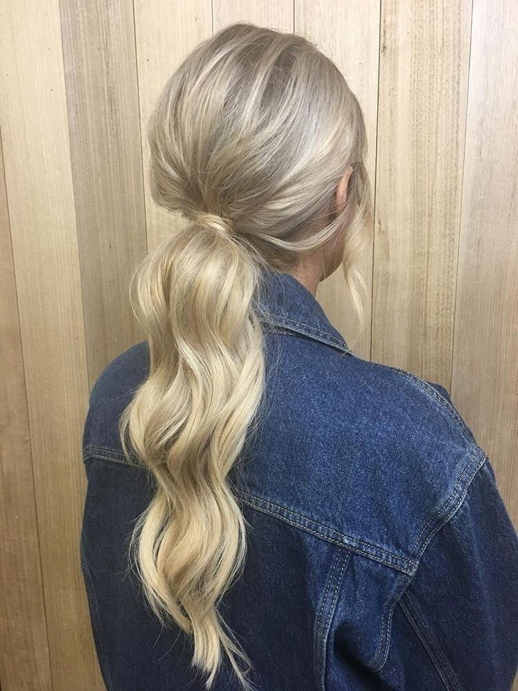 How To: The Perfect Ponytail for Thin Hair chelseabourke.com instagram/chelseabourke #blonde #hairstyles #updo #curls #waves #beauty #beautytips #denim #jacket #love #summer #goals #blondehairstyles