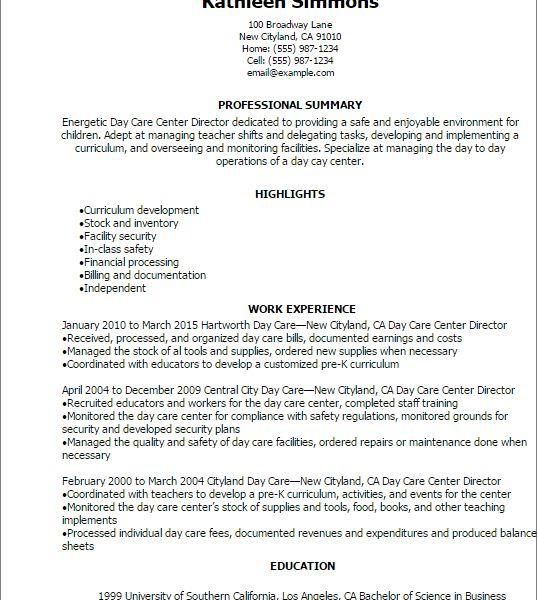Nursery School Director Resume Preschool Teacher Resume Sample - nursery school director resume