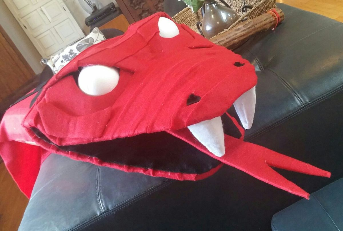 Large Cardboard And Felt Kaa Puppet For Jungle Book With