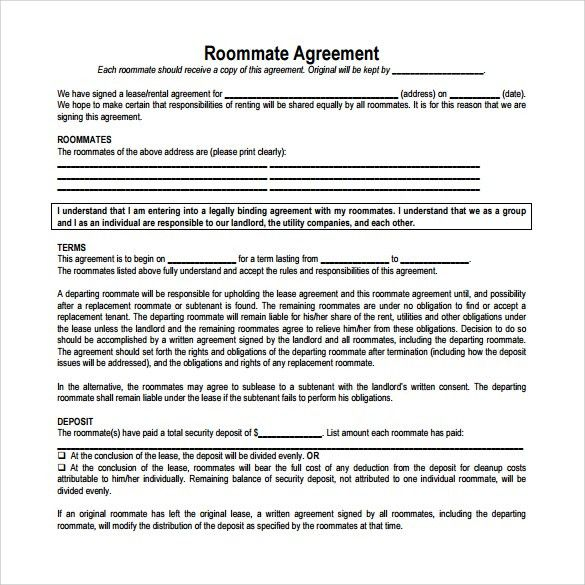 Lease Agreement Copy 10 Best Rental Agreements Images On - roommate rental agreement