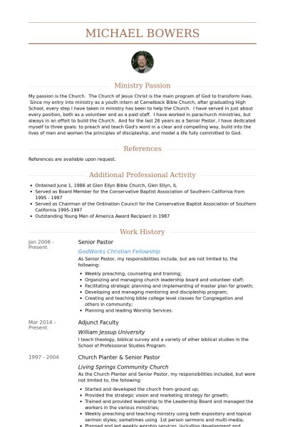 sample pastoral resume sample pastoral resume download ministry