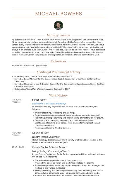youth pastor resume template youth pastor resume samples visualcv senior pastor resume
