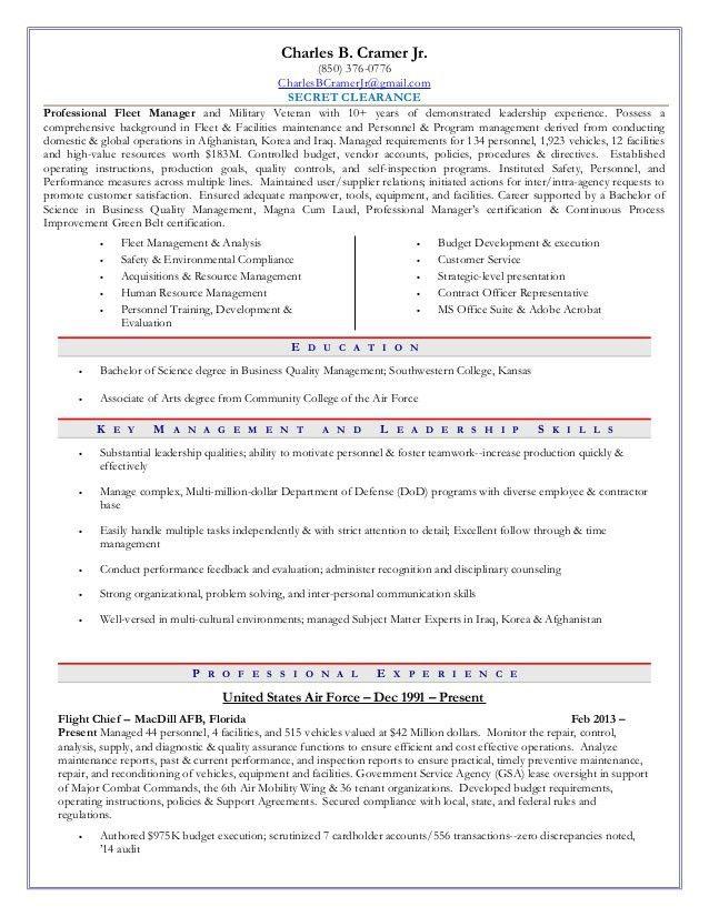 vehicle fleet manager cover letter - Fleet Engineer Resume