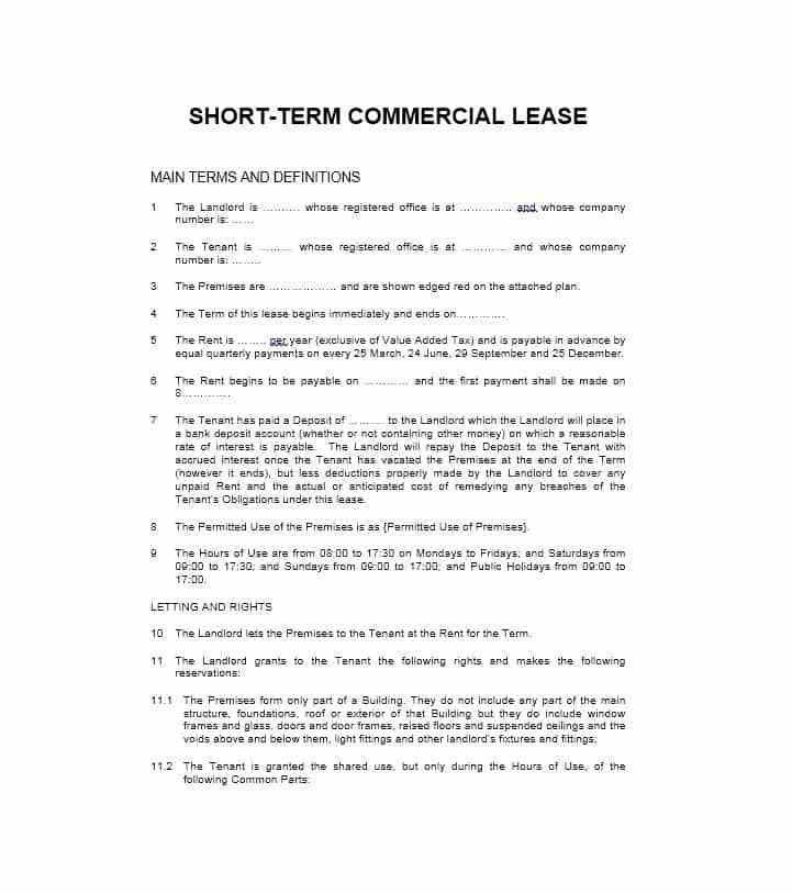 Business Property Lease Agreement Template Free Free Connecticut - sample commercial lease agreement