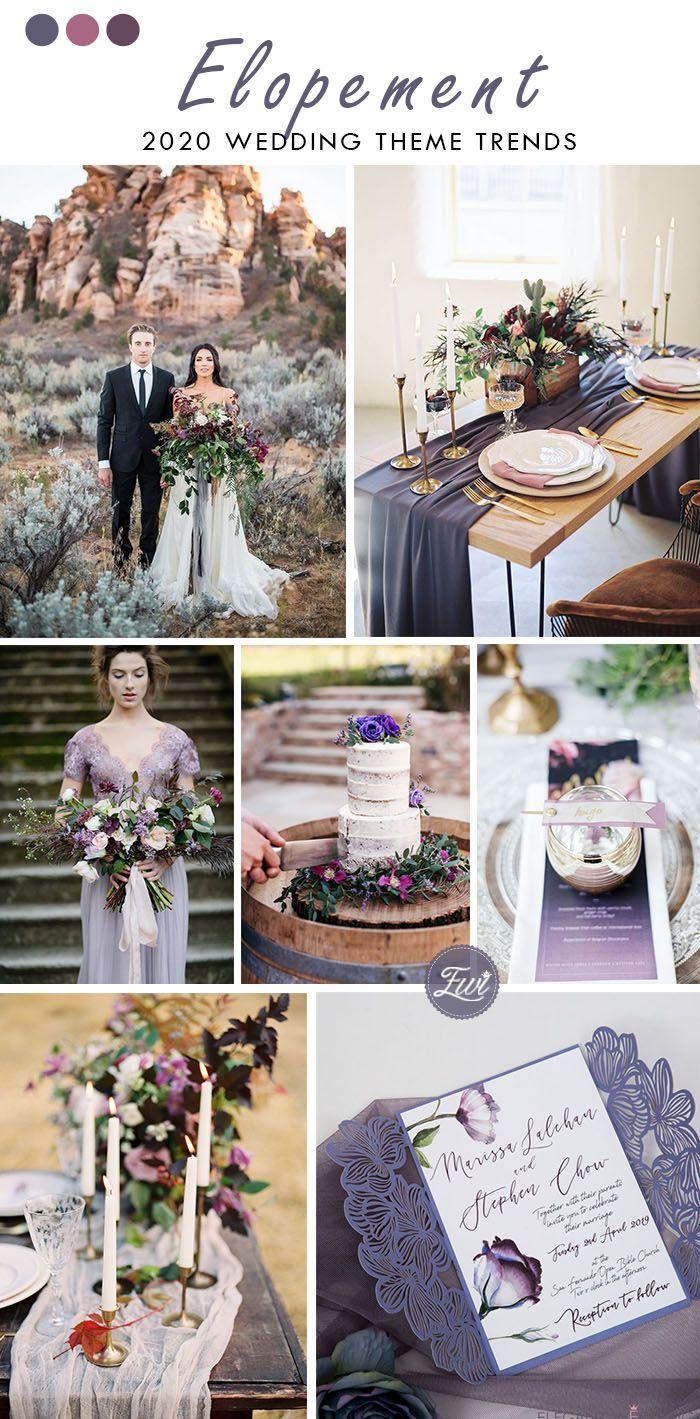 chic desert elopement wedding theme in lavender purple color