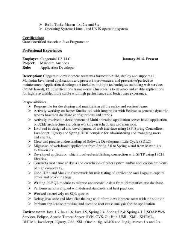 web services resumes in java java j2 ee abhay resume sample java