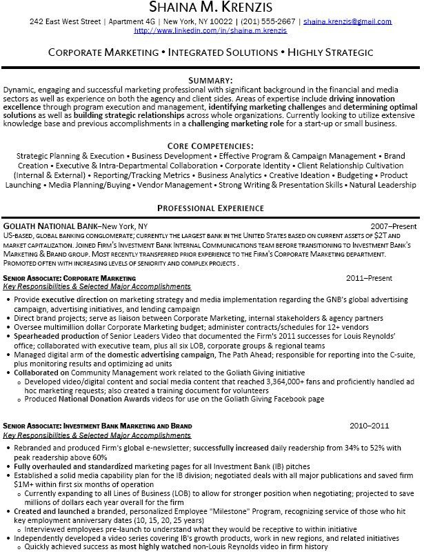 banker resume sample resume example example investment banking resume examples banking - Banker Sample Resumes