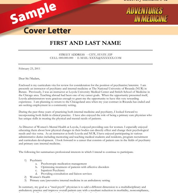 Cover Letter Physician Free Physician Cover Letter Templates - cover letter mistakes
