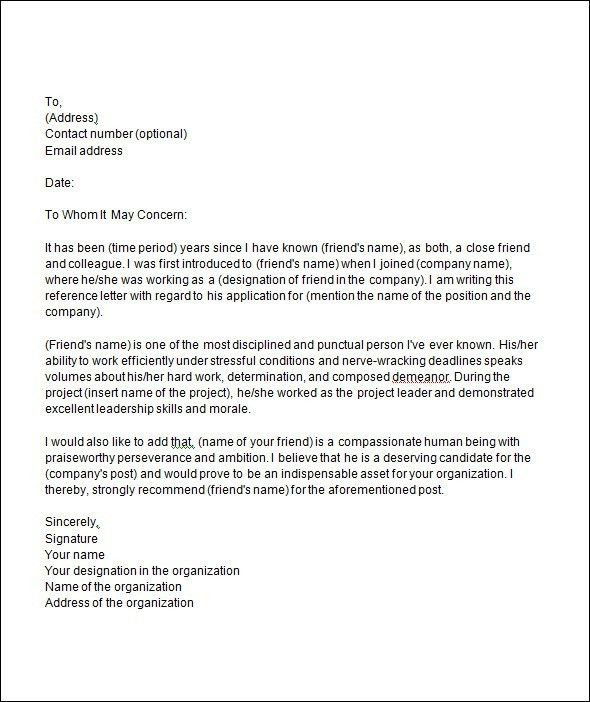 College Recommendation Letter Template Best 25 College - employer recommendation letter sample