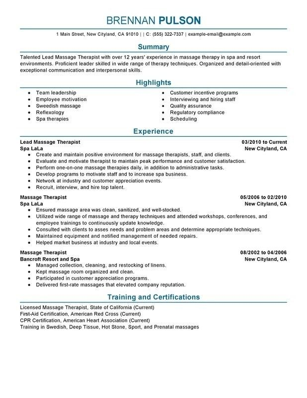 resume physical therapist