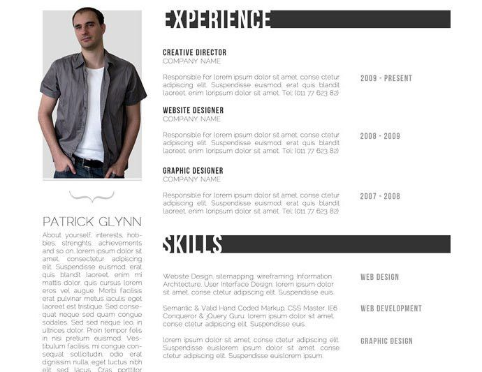 Resume In Html Format Html Resume Template, 28 Free Cv Resume - free cool resume templates
