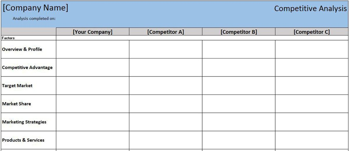 ... Competitive Analysis Format Competitive Analysis Template 9 Free    Marketing Competitor Analysis Template ...  Competitive Analysis Templates