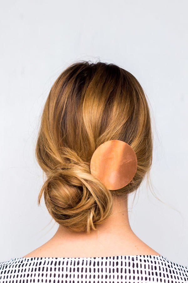 18 Gorgeous Low Bun Hairstyles: Messy Side-Swept Chignon