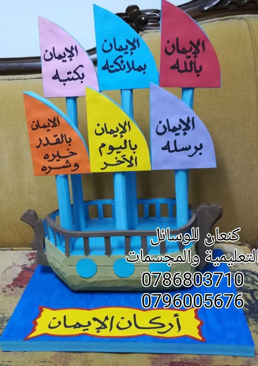 مجسم اركان الايمان Muslim Kids Activities Islamic Kids Activities Arabic Alphabet For Kids