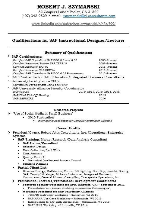 Sap Security Consultant Sample Resume Tp Security Cv, Sap Security