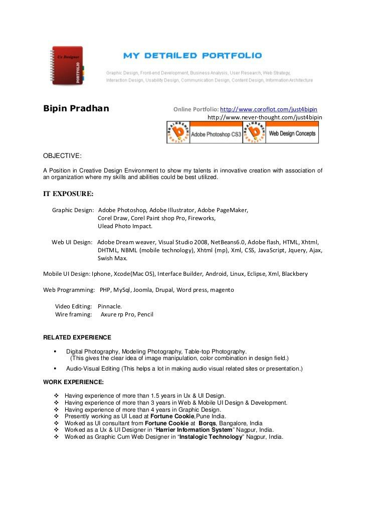 Ui Architect Sample Resume Ui Architect Sample Resume User