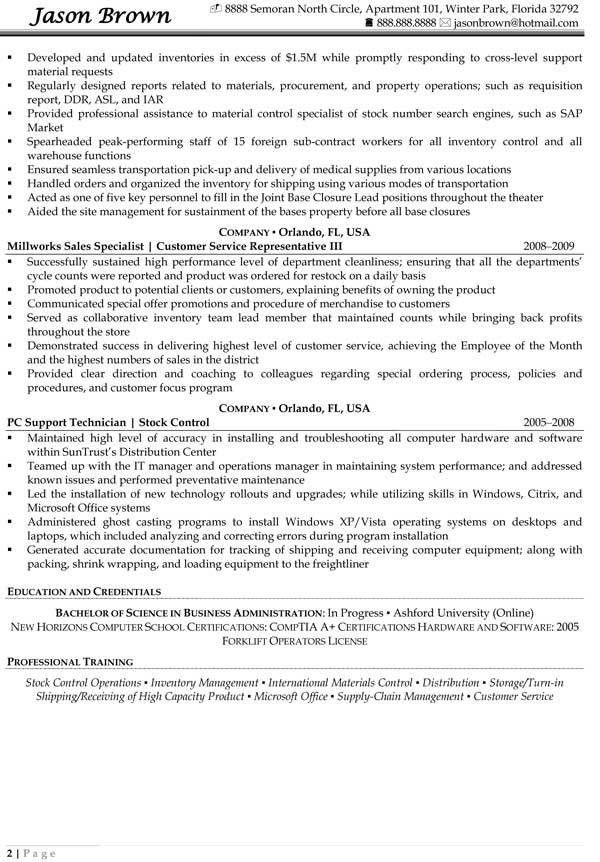 warehouse specialist resume warehouse specialist resume 22 material control specialist sample resume - Warehouse Specialist Resume