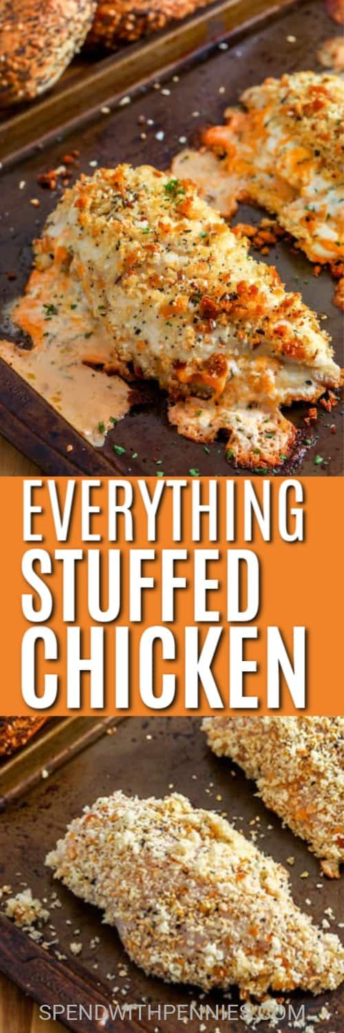 Everything Cream Cheese Stuffed Chicken recipe is so easy to make and full of flavor.
