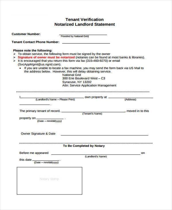 Verification of tenant occupancy ez landlord forms - landlord verification form