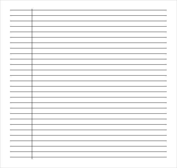 16 word lined paper templates free download free premium - sample lined paper